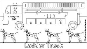 free picture fire truck coloring 94438