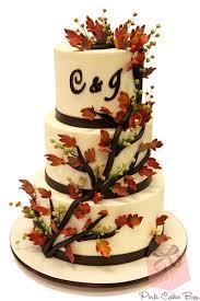 fall themed wedding fall themed wedding cakes pink cake box custom cakes more