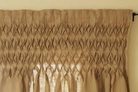 elegant design of smocked burlap curtain best curtains design 2016