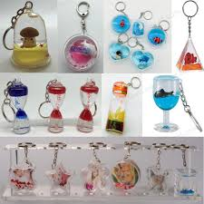 Wine Glass Keychain Different Design Color Liquid Keychain Clear Acrylic Aquaria