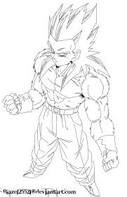 ball coloring pages goku super saiyan 3
