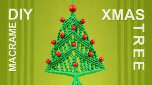 how to christmas tree macrame xmas ornament decoration youtube