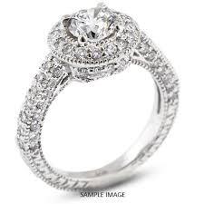 vintage halo engagement rings 14k white gold vintage style engagement ring with halo with 1 89