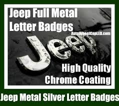 jeep grand cherokee stickers jeep chrome silver metal hood truck emblem badge front rear wrangler