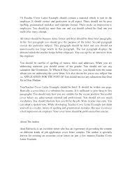 Job Application Cover Letter Format Online Tutor Cover Letter