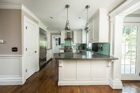 kitchen peninsula cabinets kitchen remodel with custom white cabinetry ackley cabinet llc