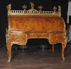bureau du s at empire walnut roll top desk bureau du roi cylinder desk