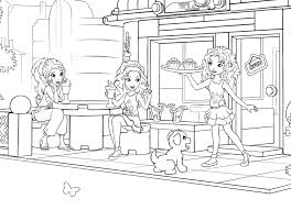 coloring pages lego friends funycoloring