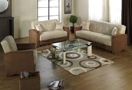 beige u0026 brown fabric modern living room sofabed w storage