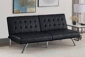 Leather Futon Sofa Wade Logan Littrell Convertible Sofa Reviews Wayfair