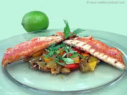 cuisiner rouget filet de rouget aux poivrons la recette avec photos