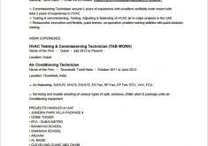 Hvac Resume Extraordinary Idea Hvac Technician Resume 5 Hvac Resume Template