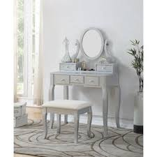 Mirrored Makeup Vanity Table Silver Bedroom U0026 Makeup Vanities You U0027ll Love Wayfair