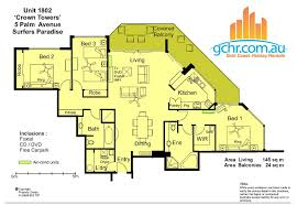 Crown Towers Resort Apartment  Surfers Paradise Accommodation - Three bedroom apartment gold coast