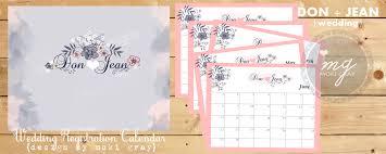 wedding registration wedding registration calendar by moki gray one charming day