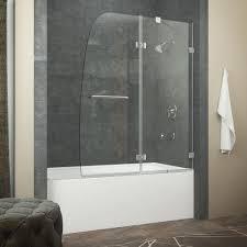 Sliding Bath Shower Screens Bathroom Stupendous Frameless Sliding Shower Doors For Tubs
