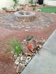 a beautiful fire pit for this las vegas backyard parsons rocks