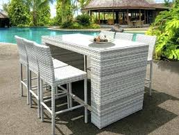 modern outdoor table and chairs patio bar table set patio furniture bar height dining set