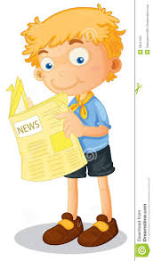 kids reading newspaper clipart clipartxtras