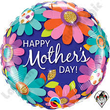 floral foil 18 inch mothers day fashion floral foil balloon 1ct