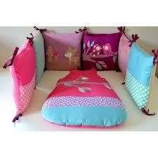 theme chambre bébé fille tour de lit et gigoteuse bébé sur mesure fait par une créatrice