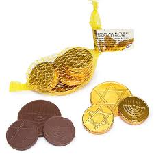 hanukkah chocolate coins chanukah gelt milk chocolate gold coins in mesh bags 18 box