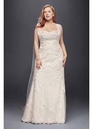 plus size sheath wedding dress with tank straps david u0027s bridal