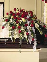 casket spray sympathy casket spray traditional pugh s flowers local florist
