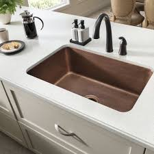 Sinkology SKAC Transitional Orwell Undermount Handmade Solid - Copper sink kitchen