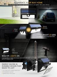 Top Rated Solar Landscape Lights by Amazon Com Mpow 20 Led Solar Lights Bright Outdoor Security