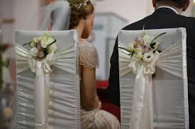 Bride And Groom Chair Church Civil Ceremony And Same Marriage Decor Services