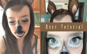 deer halloween makeup tutorial diy deer ears youtube