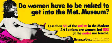 do women have to be to get into the met museum 1989