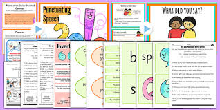 and punctuate direct speech teaching ideas and resource pack