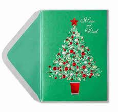 gem christmas tree for mom u0026 dad christmas greeting cards