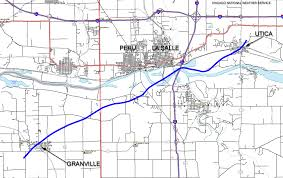 Illinois Interstate Map by April 20th 2004 Illinois Tornado Outbreak