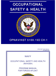 opnavinst 5100 19 navy occupational safety and health program