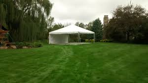 Tent In Backyard by Rent 20 U0027 X 20 U0027 Frame Party U0026 Event Tent Temporary Structure Iowa