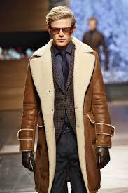men s brown shearling jacket dark brown gingham wool blazer charcoal dress shirt charcoal wool dress pants men s fashion
