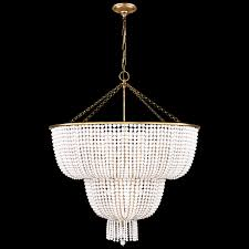 Chandelier Designer Hand Rubbed Antique Brass With White Acrylic Jacqueline Two Tier
