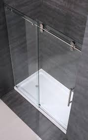 How To Clean Shower Door Tracks Langham Completely Frameless Sliding Alcove Shower Door Platinum