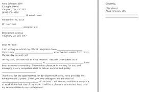 official resignation letter the above are some standard formal