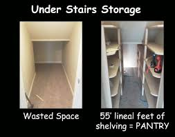 How To Organize A Pantry With Deep Shelves by I Had Wasted Space In That Weird Under Stairs Closet So We Made