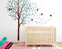 Cherry Blossom Tree Wall Decal For Nursery Baby Nursery Tree Wall Decal Mural Stickers Cherry Blossom Decor