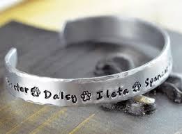 pet memorial gifts dog bracelet personalized bangle bracelet paw print bracelet