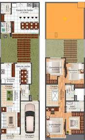 Modern Two Story House Plans Narrow Two Story House Plans Google Search Dream House