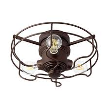 Ceiling Fan With Cage Light 52 Rustic Windmill Ceiling Fan Shades Of Light