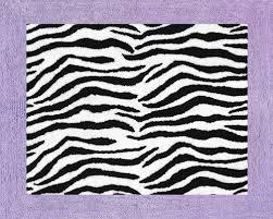 purple zebra print rug floor soft accent area or bath rug