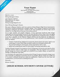 what is cover letter high school student cover letter sle guide resumecompanion