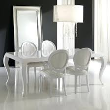 dining chairs white lacquer dining table uk modern room